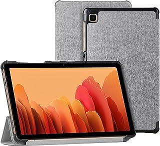 Cresee 手机壳适用于三星 Galaxy Tab A7 Lite 8.7 英寸平板电脑(2021 年版本),智能翻盖对开 PU 书套 [自动唤醒/休眠] [磁扣] [支架功能] 适用于 Tab A7 Lite 灰色