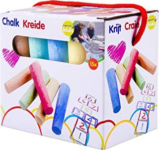 Eddy Toys 90726 – 街头粉笔,儿童粉笔,15支,不同颜色