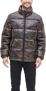 DKNY 男式仿皮絎縫超軟羽絨服