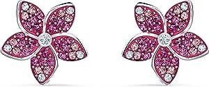 SWAROVSKI 女式热带花朵粉色水晶珠宝系列