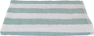 Fibertone 豪华超大免烫海滩浴巾 Cabana 条纹 1888 毫升 泡沫白 BT10670SFOCS
