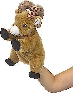 Eco Pals Bighorn Sheep Puppet 由野生动物艺术家设计,填充动物毛绒玩具木偶 12 英寸(约 30.5 厘米),环保,刺绣*和鼻子,由 * 消费后和再生材料制成