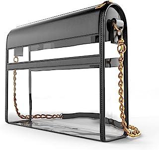 透明钱包体育场批准斜挎包 | 设计师透明女士手提包