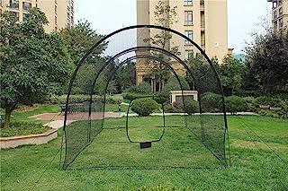 Kapler 击球笼棒球垒球,击球网后院棒球垒球训练设备,大击球笼网,带钢框架和网。