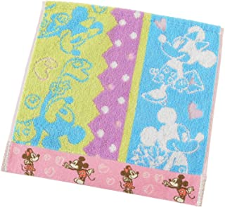 UCHINO 迪士尼 啪嗒的故事 毛巾手帕 *防臭 蓝色 米奇&米妮 约25×25厘米 4105V363 B