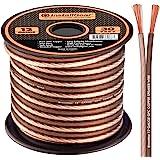 InstallGear 12 号扬声器线 - 99.9% 无氧铜 - 真正规格和软触摸电缆(30 英尺)