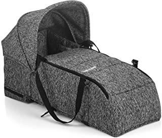 Be Cool 9009 Y35 Mime, Softtragetasche für Kinderwagen Bi-Baby, Abnehmbarer Fußsack, Faltbare Haube, Erste Tage, grau
