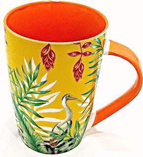 明亮多彩的陶瓷杯,适用于咖啡茶拿铁 | 热带设计