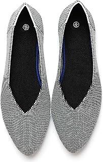 AOMAIS 女式芭蕾平底尖头平底鞋工作一脚蹬女鞋驾车平底鞋