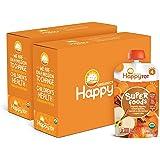 Happy Tot Organics 阶段4苹果红薯胡萝卜和肉桂+Super Chia,4.22盎司,120克,袋装(1…