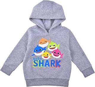 Nickelodeon 婴儿鲨鱼连帽衫儿童连帽套头衫连帽衫儿童连帽毛衣