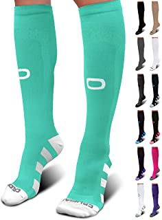 压力袜 (20–30mmHg) 适用于男式和女式–BEST 逐长袜适用于跑步*运动 edema ***旅行孕妇 SHIN 夹板*护理