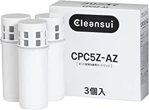 三菱可菱水cleansui 【厂家正规品】【CPC5×3个增量装】 可菱水滤水壶系列 可替换净水滤芯 CPC5Z-AZ