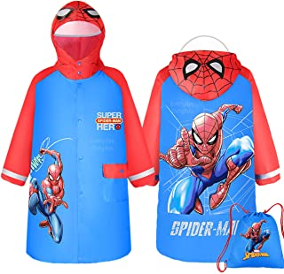 Marvel 蜘蛛侠连帽雨衣防雨夹克斗篷外套适合男孩幼儿儿童