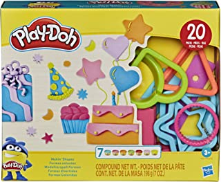 Play-Doh Play-Doh Makin' Shapes Create It Kit 适合 3 岁及以上儿童,7 种*颜色