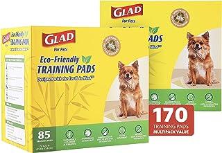 Glad for Pets 地球友好型竹制训练垫,共 170 片小狗垫 | 适合所有狗狗 | *吸水小狗训练垫*狗狗训练垫(85 Ct 2 件装)