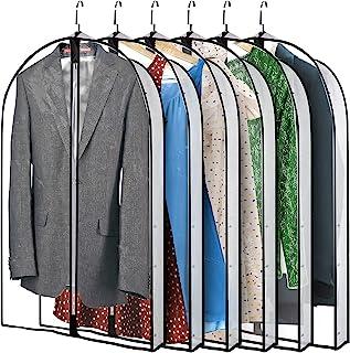 Amylove 40 英寸(约 101.6 厘米)悬挂式服装袋轻质透明全拉链套装袋防尘服装袋透气服装罩袋适合西装连衣裙外套毛衣夹克服装储物柜