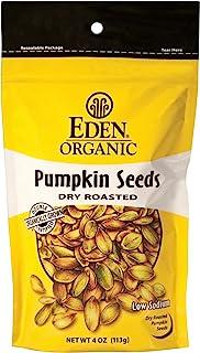 Eden 南瓜籽,干烤,4 盎司(约 113.4 克)可重复密封袋(15 件装)