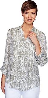 Ruby Rd. 女式棕榈树印花上衣