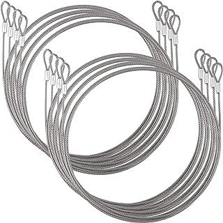 ZEONHAK 8 件 11.5 英尺不锈钢线绳,多功能*电缆线,灵活钢绳,适用于自行车、行李箱、门、帐篷、衣服