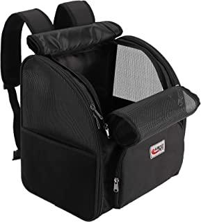 宠物背包,适用于大型/小型猫和狗,小狗,*功能和缓冲背部支撑,适用于旅行、徒步、户外使用,黑色