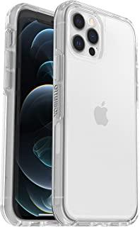 OtterBox Symmetry Clear – 防摔、防震、优雅、透明保护套,适用于Apple iPhone 12 / 12 Pro(无零售包装)