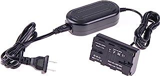 Foto4easy 交流电源适配器,带 NP-F 假电池直流耦合器,适用于 Sony 索尼 NP-F970 NP-F960 NP-F770 NP-F750 NP-F550 电源视频 LED 灯相机显示器