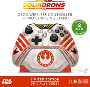 Controller Gear Star Wars: Squadrons, Xbox 无线控制器 + Pro 充电支架套装,适用于 Xbox-限量版 - Xbox,Disney,Lucasfilm Ltd. 官方* - Xbox One