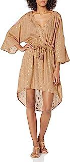 Kenneth Cole New York 女式高低前系带迷你连衣裙泳衣罩衫