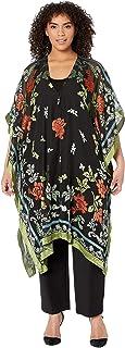 Karen Kane 女式加纹理花卉和服,多色,均码