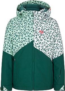 Ziener 女童 Alani Junior 儿童滑雪冬季夹克,防水防风保暖