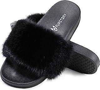 女式貂皮拖鞋蓬松拖鞋毛绒凉鞋户外室内