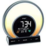 TFA Dostmann 闹钟 Soluna 60.2026.01,日落,5种灯光模式,室内气候控制,黑色