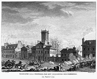 法国革命 1791 La Chapelle By Barrier Guards 于 1791 年 1 月法国线雕由 Jean-Louis Prieur 19 世纪早期海报印刷品 (45.72 x 60.96cm)