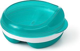 OXO Tot 餐盘带可拆卸环和存放盖子 水鸭色