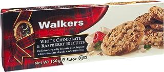 Walkers Shortbread 白巧克力树莓饼干,5.3盎司/150克(4件装)