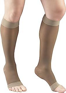 Truform 薄款压力袜,15-20 mmHg,女士及膝长度,露趾,20 旦尼尔 X大码