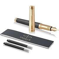 PARKER 派克 Premier 钢笔,风暴灰,中号笔尖和黑色墨水笔芯