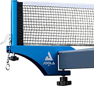 JOOLA 专业级 WX 铝制室内外乒乓球网和柱组 - 快速安装 - 182.88 厘米常规乒乓球网 - 加固棉混纺网,带可调节张紧系统