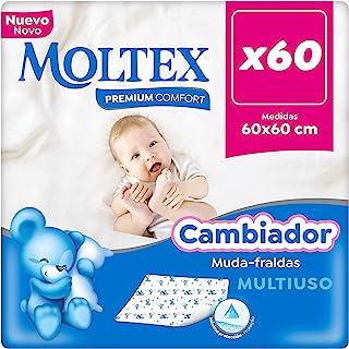 Moltex 高级舒适一次性婴儿尿布垫(60 x 60厘米) - 60个尿布垫
