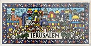 Blue White Shop 亚美尼亚陶瓷装饰瓷砖墙壁装饰耶路撒冷(15.0x7.5x0.5cm)