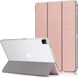 Epicgadget iPad Pro 12.9(*4代)2020,半透明后盖自动休眠/唤醒折叠支架保护套(支持苹果铅笔充电)适用于苹果 iPad Pro 12.9 英寸 2020