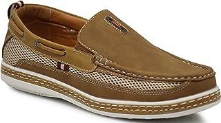 Enzo Romeo DC9N 男士秋季夏季轻便休闲修身经典时尚一脚蹬乐福鞋船鞋