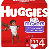 HUGGIES Little Movers 纸尿裤 NEW Economy Plus Pack 4 144
