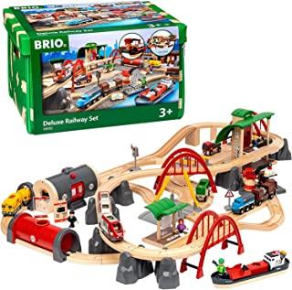 BRIO World 33052 儿童玩具 街道 火车铁路豪华套装 — BRIO铁路带游戏垫 幼儿玩具 推荐3岁+