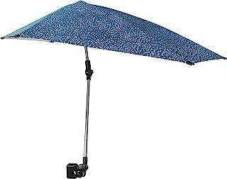Sport-Brella Versa-Brella SPF 50+ 可调节雨伞,带通用夹,常规,浅蓝色