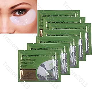 Baisidai Pack of 10/20/30/40 Pairs Collagen Crystal Eye Mask Eyelid Patch Deep Moisture Anti Wrinkle (20PCS, White)
