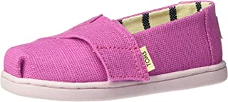 TOMS 儿童 10009918 Alpargata-K Rose Violet Heritage Canvas 7 M US Toddler