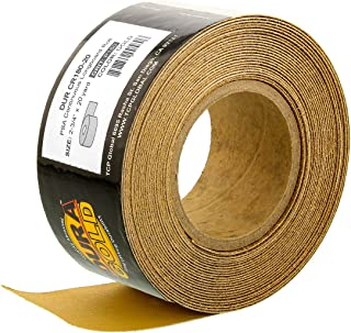 Dura-Gold - 优质 - 180 粒砂金 - 长板连续卷 20 码长 x 2-3/4 英寸宽PSA 自粘长板砂纸 适用于汽车和木工