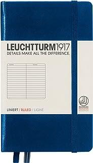 LEUCHTTURM1917 灯塔口袋型横格笔记本藏蓝色硬封皮(A6)